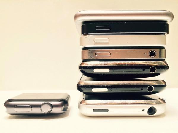歴代iPhoneとApple Watch