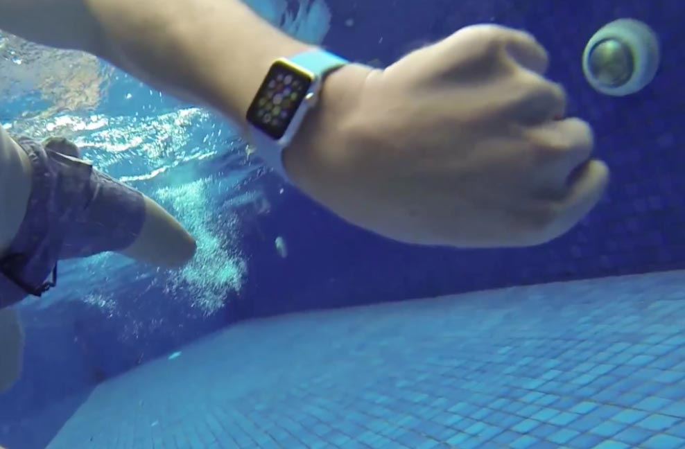 Applewatch 水の中