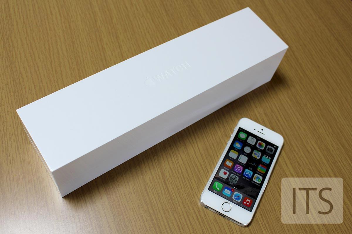 Apple Watch 外装 iPhone5sと大きさ比較