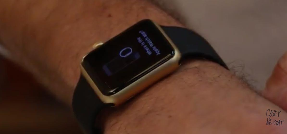 Apple WatchSportのゴールドモデル