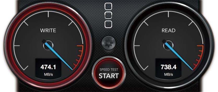 12インチMacBook SSD速度