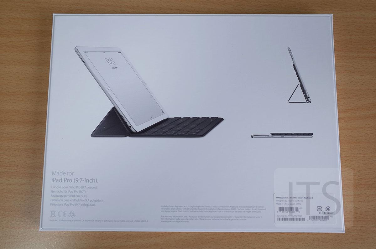 9.7インチiPad Pro Smart Keyboard パッケージの裏面