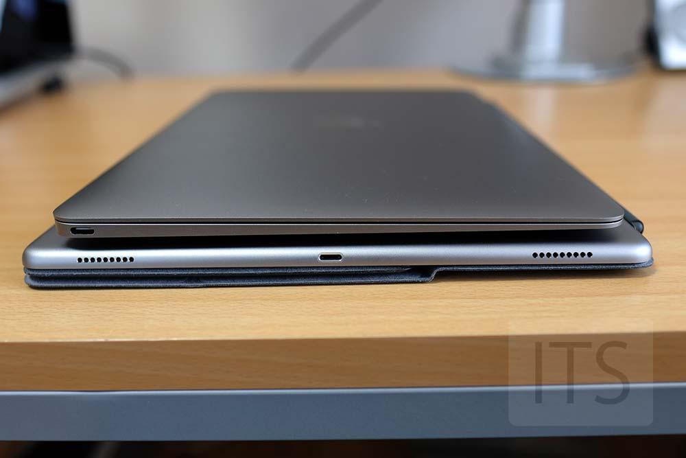 MacBookとiPad Pro 12.9の本体厚み