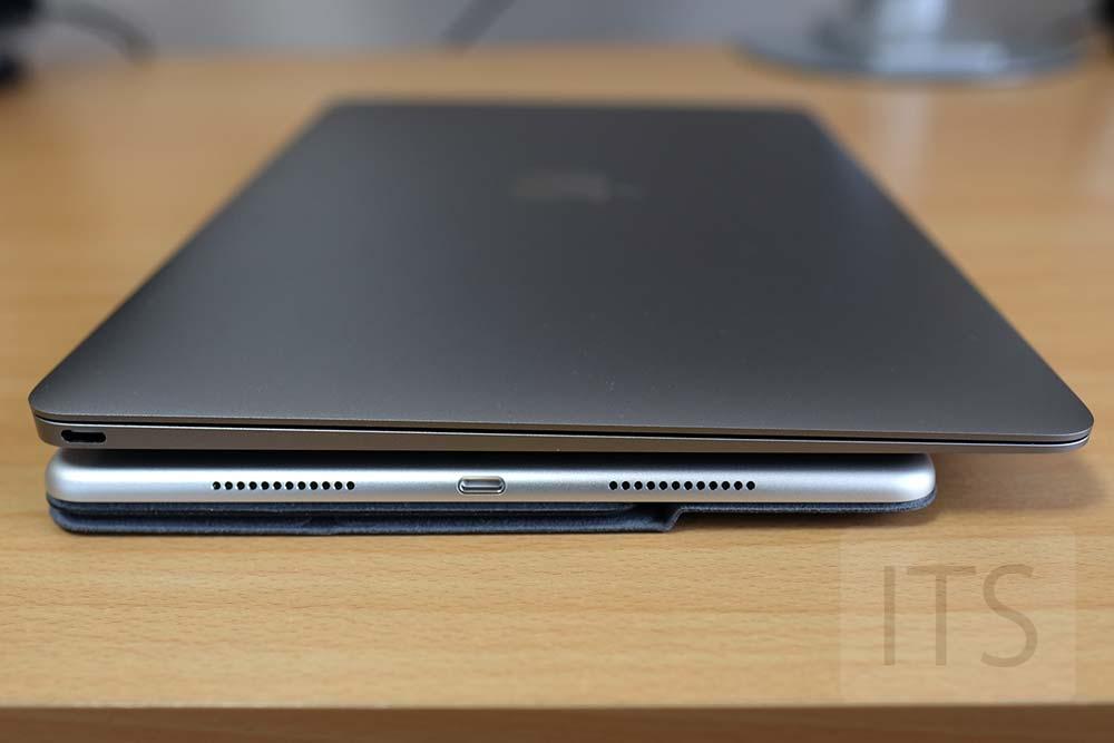 MacBookとiPad Pro 9.7の本体厚み
