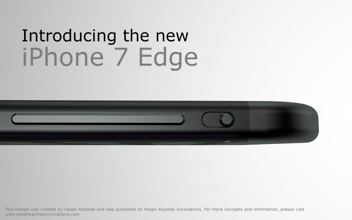 iPhone 7 コンセプトデザイン エッジスクリーン