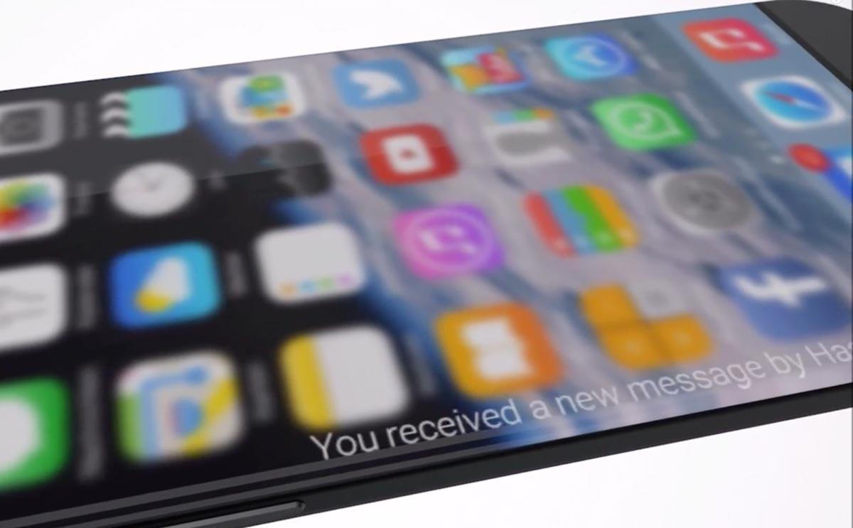 iPhone 7 コンセプトエッジスクリーン