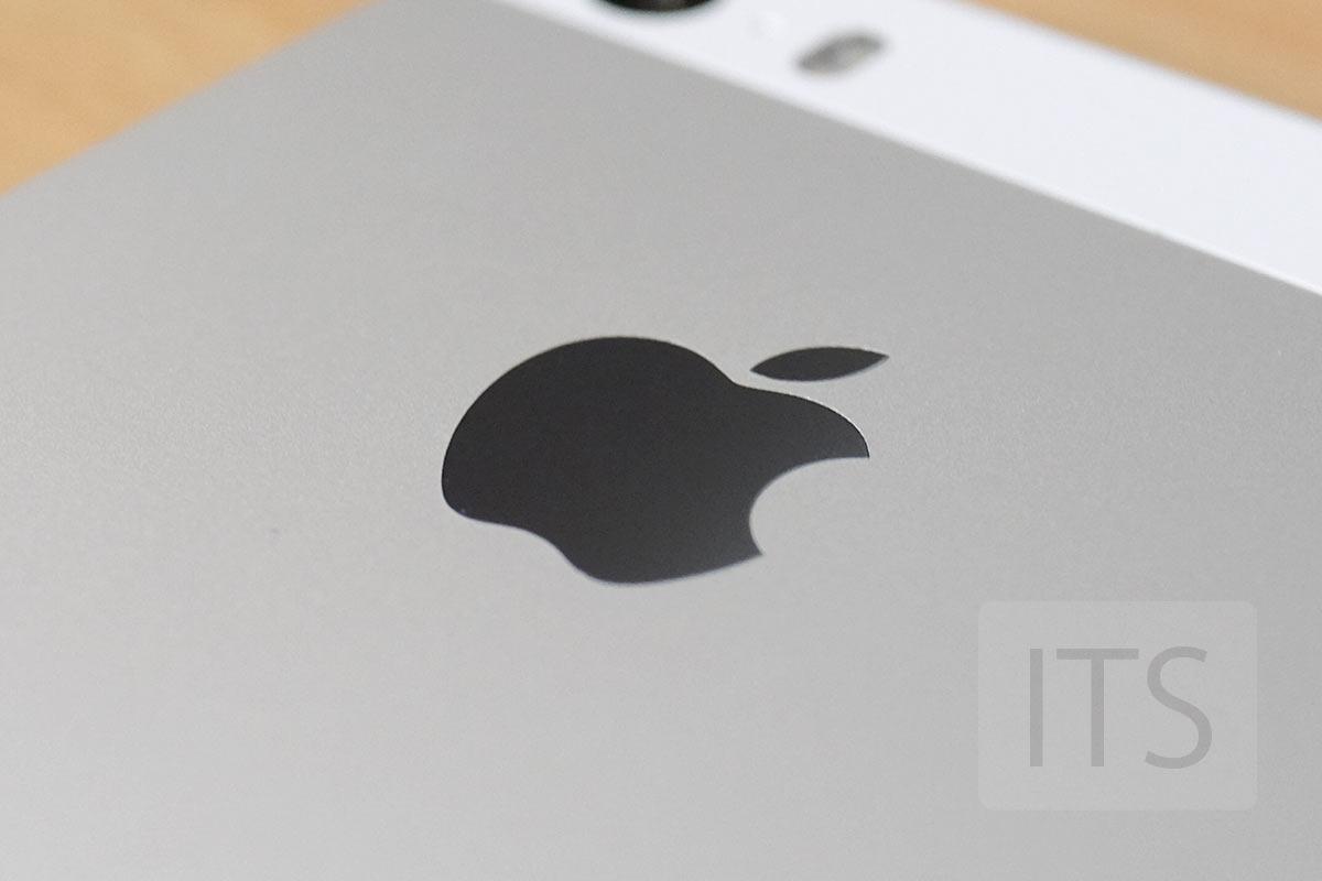 iPhone SE Appleのエンブレム