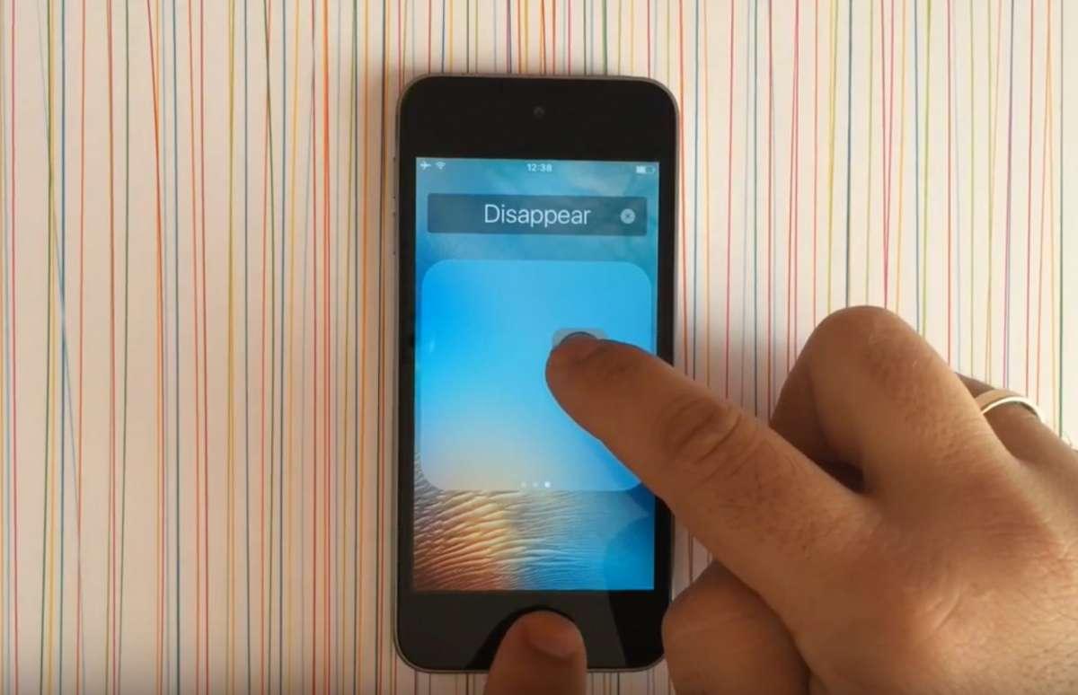 iOS9 アイコンを非表示