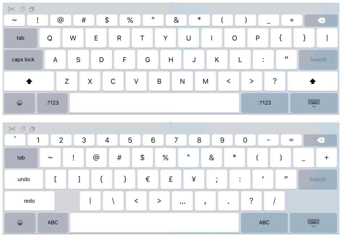 iPad Pro ソフトウェアキーボード