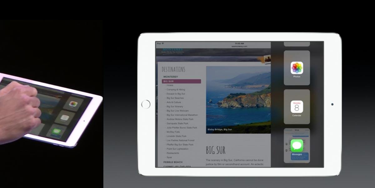 iOS9 マルチタスク 画面分割