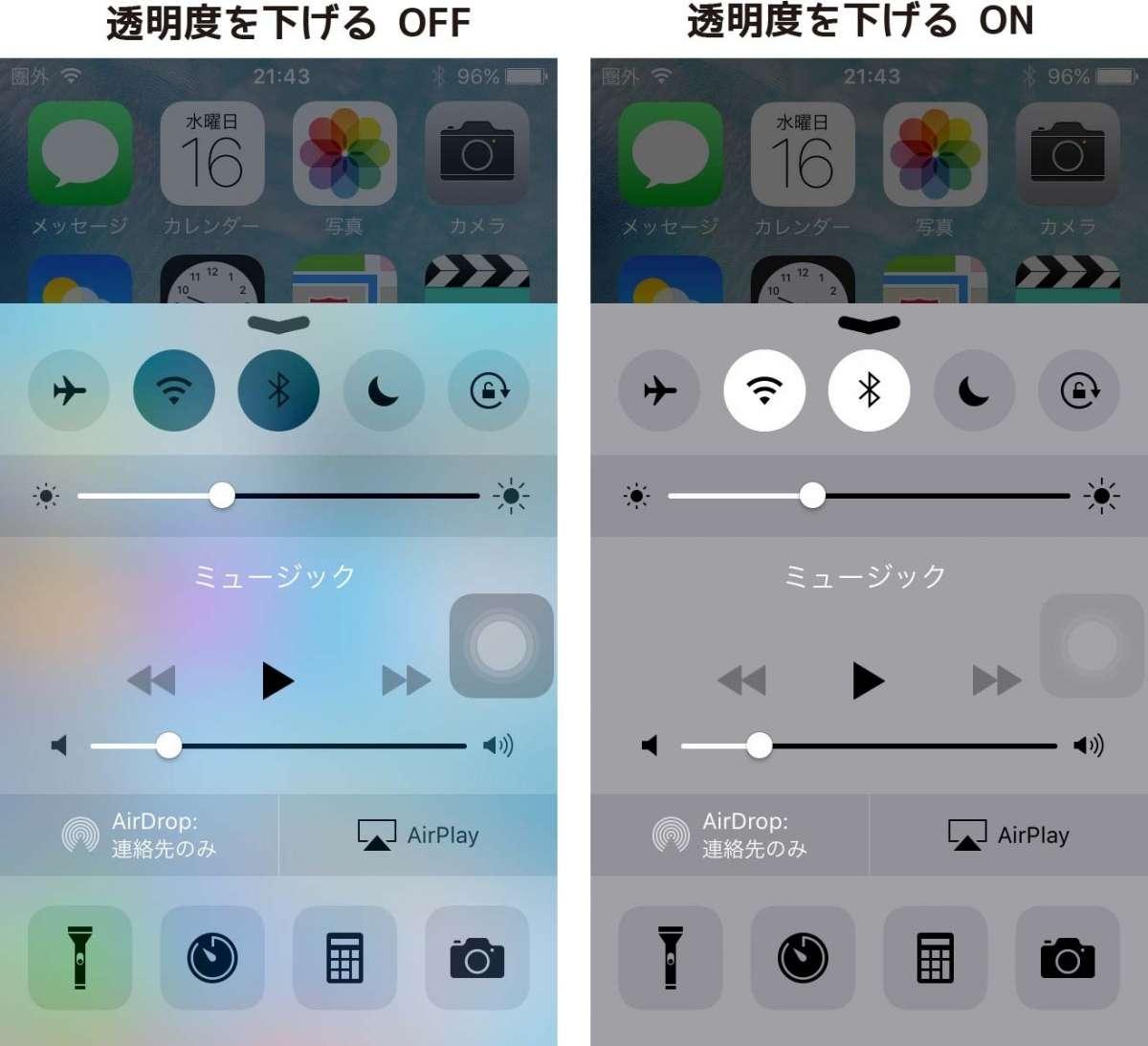 コントロールセンター iOS9