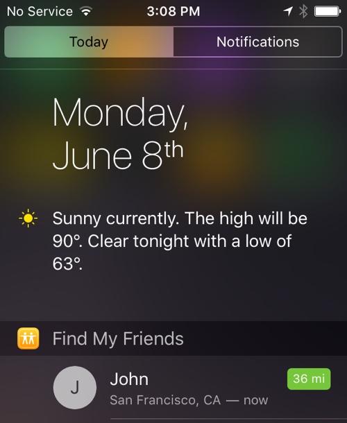 iOS9 友達を探す