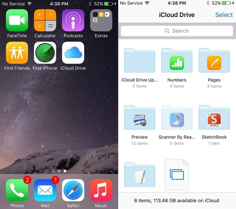 iOS9 iCloud Drive