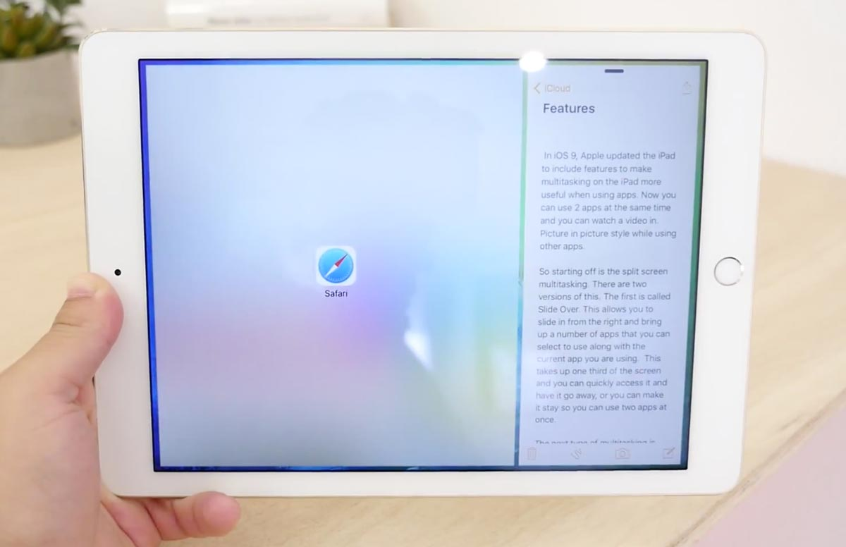Split View iPad Air 2