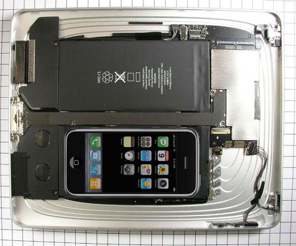 Ipadの中にiPhone