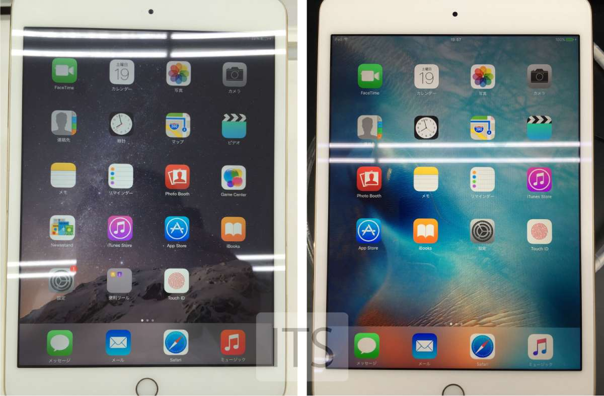 iPad mini3とiPad mini4