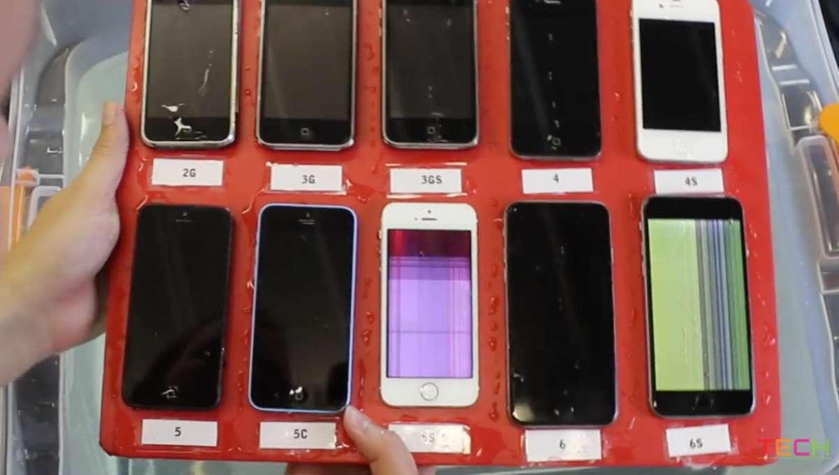 iPhoneの水没試験 ブラックアウト