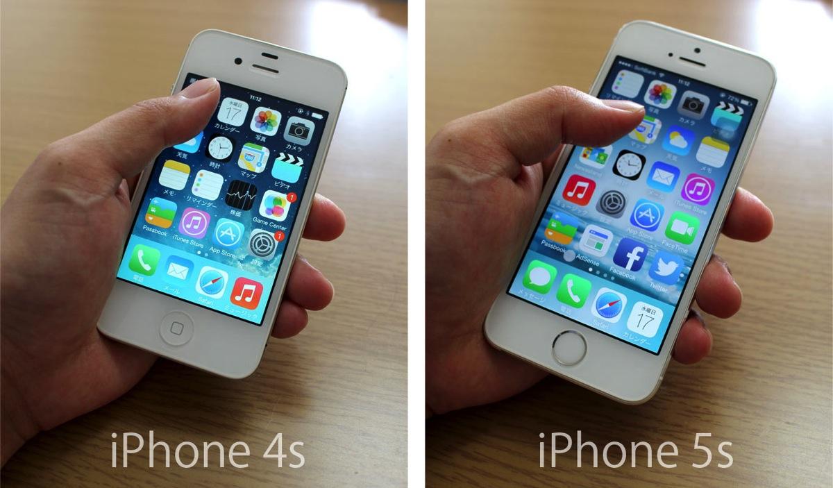 Iphone4s/5s 手で握った