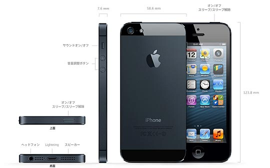 iphone5 ブラック