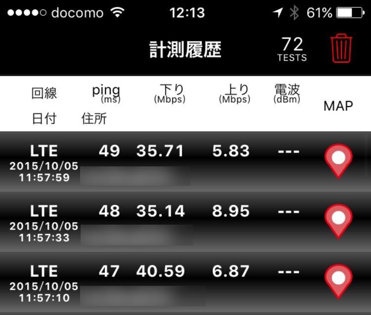 iPhone6 LTE速度