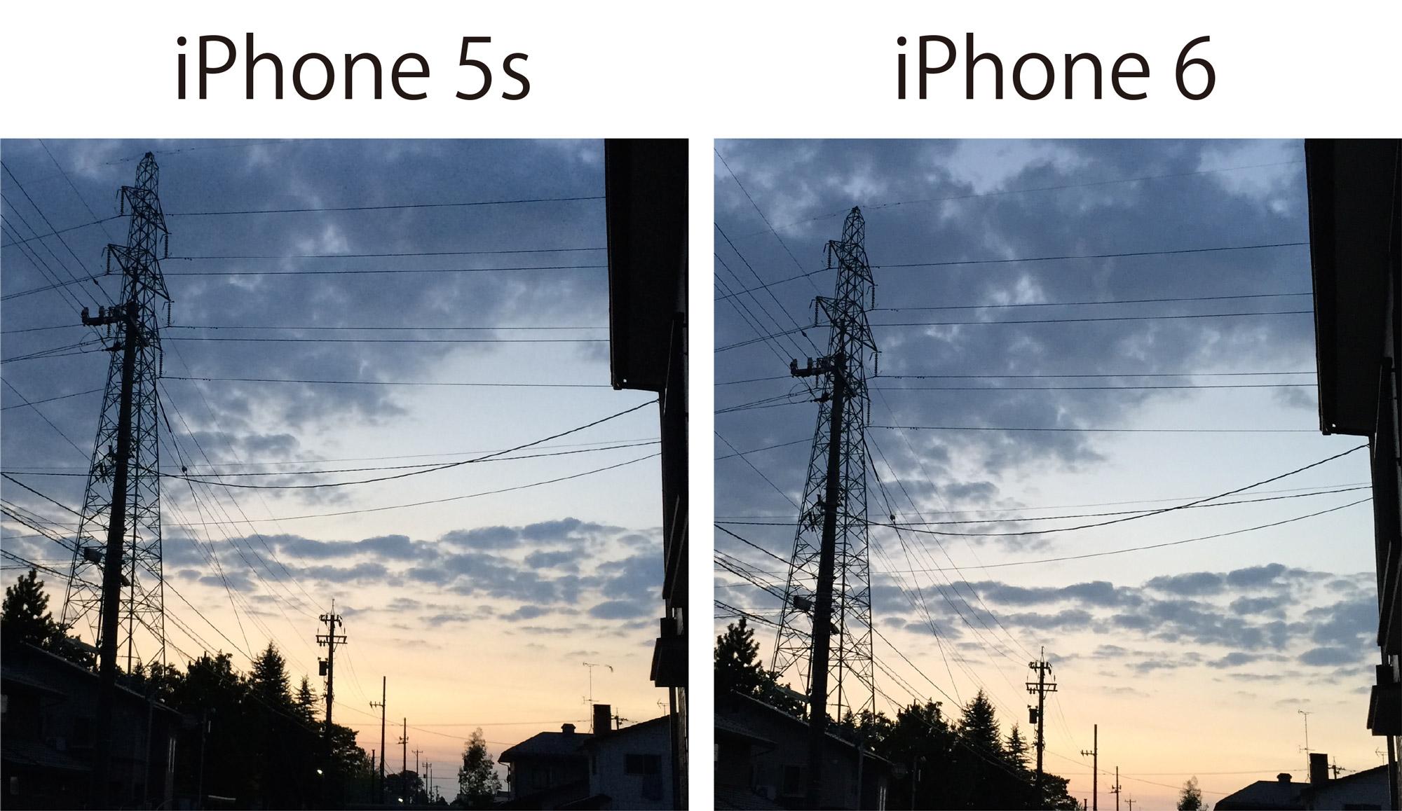 iPhone 5s/6 カメラ画質チェック3