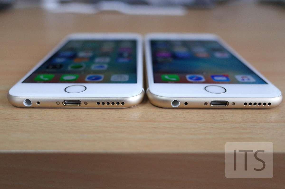 iPhone6とiPhone6sの本体の厚み