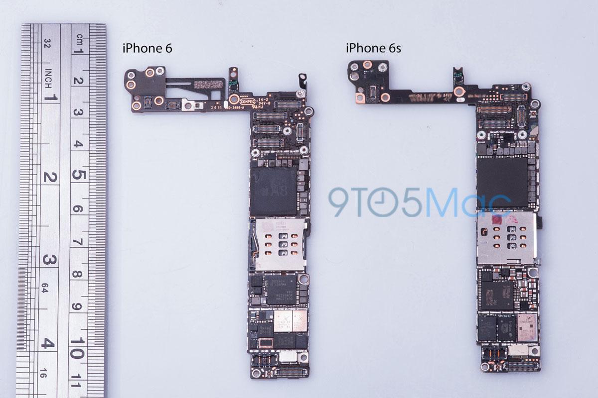 iPhone 6s ロジックボードの画像
