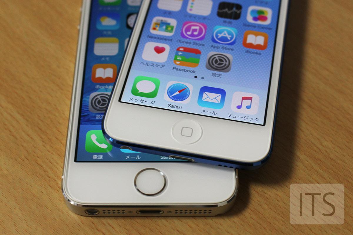 iPod Touch 6と iPhone 5s ホームボタン