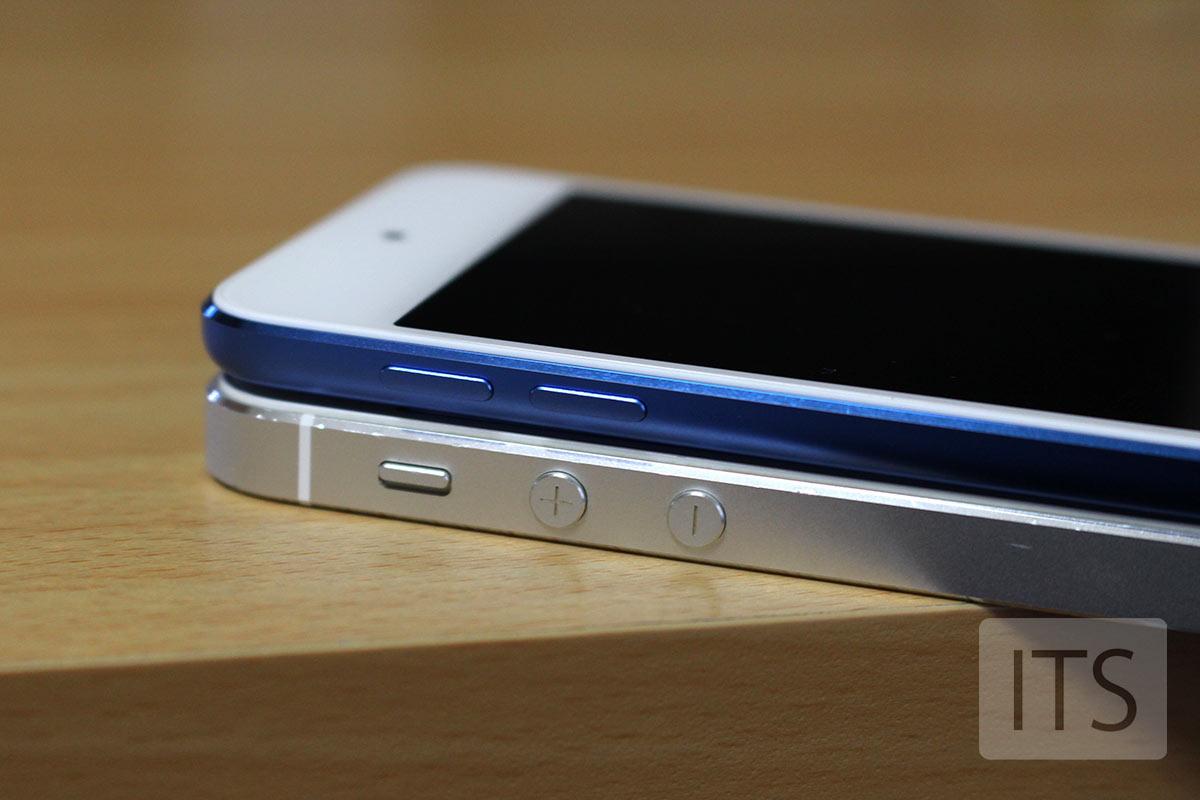 iPod Touch 6とiPhone5sのサイドボタン
