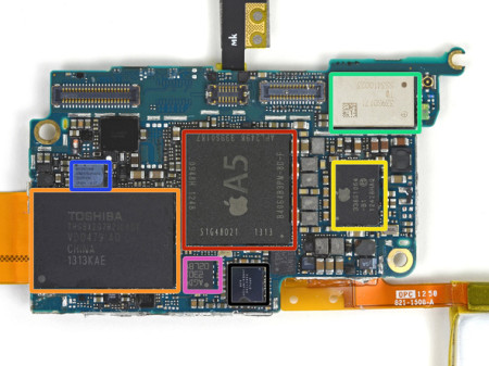 iPod touch (第5世代)/16GB 基板