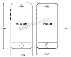 Phone 5S iPhone Lite 図面