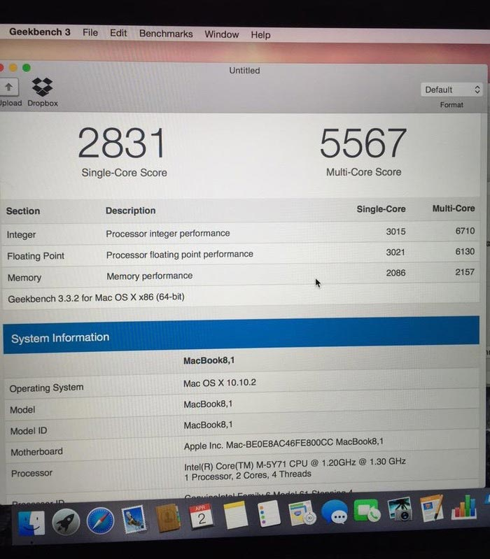 12インチMacBook 1.3GHz Core M