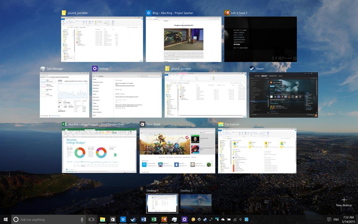 Windows 10 マルチタスク