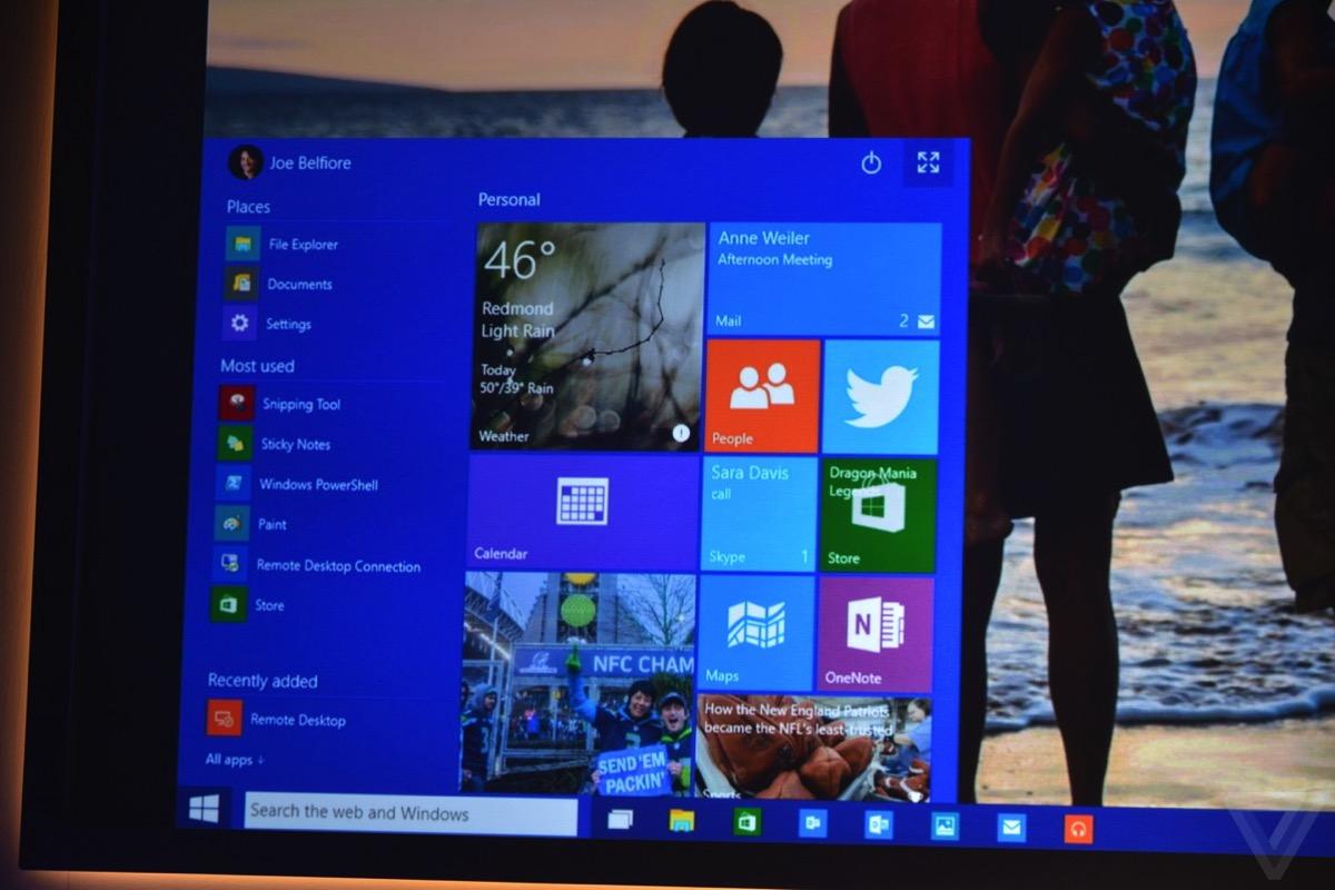 Microsoft windows 10 スタートメニュー