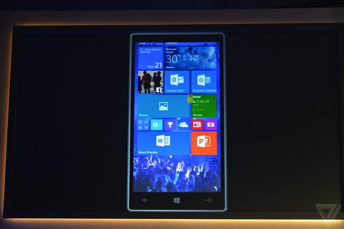 windows 10 スマートフォン