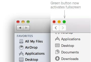 OS X 10.10 フルスクリーンモード
