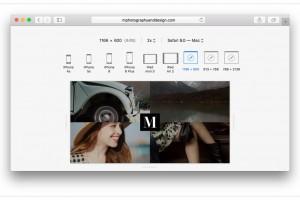 OS X 10.11 レスポンシブ・デザイン・モード