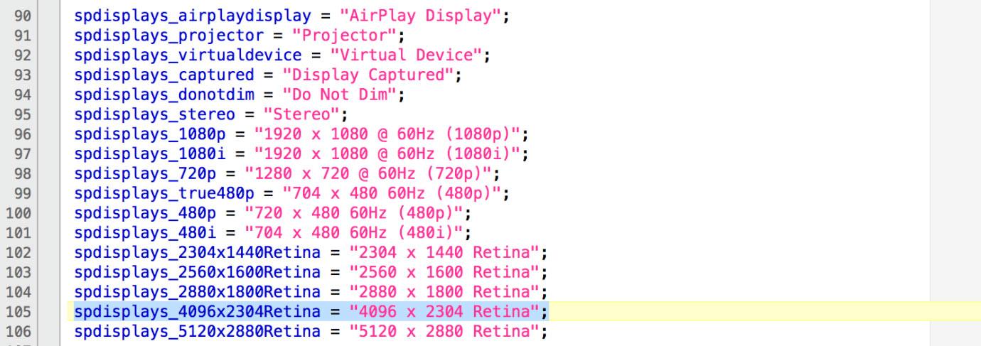 OS X 10.11 El Capitan 4Kコード