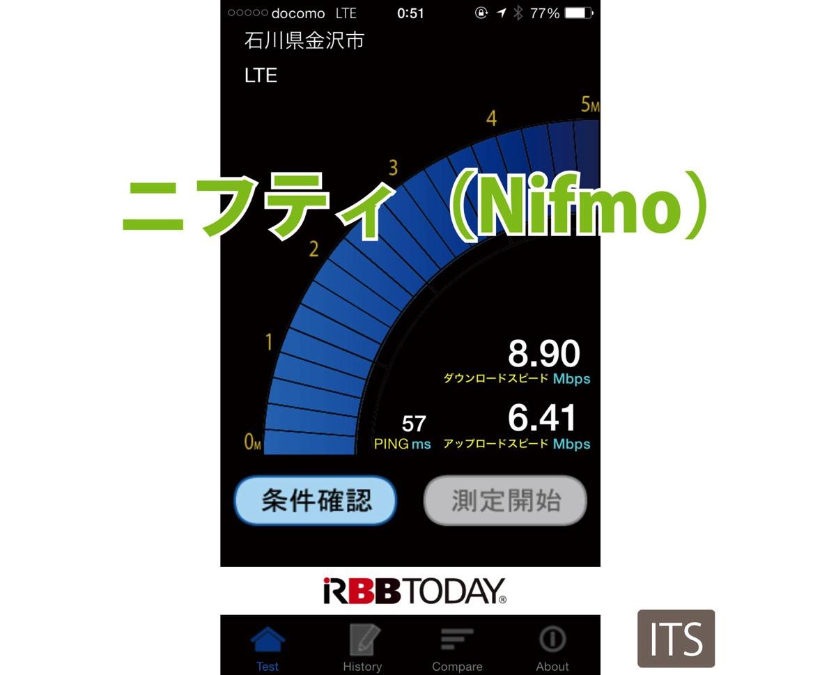 ニフティ LTE 実速度