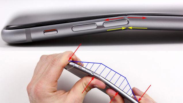 iPhone 6 Plus 曲がる要因1