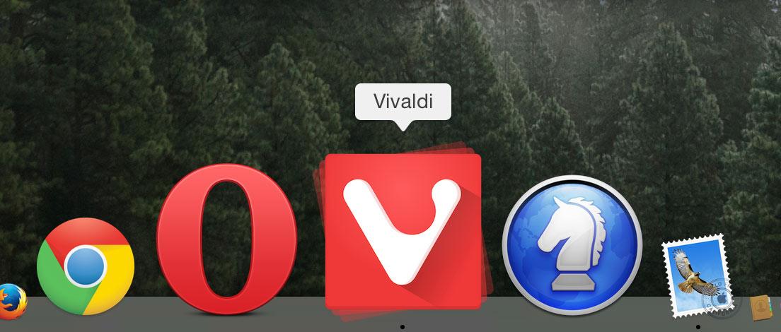 Mac OS X VIVALDI ウェブブラウザ