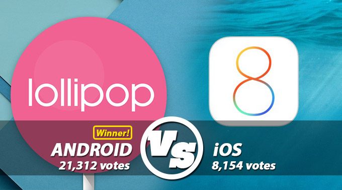 Vs android 5.0 ios8